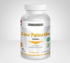Saw Palmetto 3000mg Aid Prostate Health Vitamins Aids Hair Loss MAX Strength