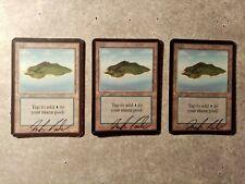 Magic the Gathering - 3x Island (Alpha, signiert)