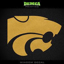 "Kansas State - Wildcats - Icon  -  NCAA - Gold Vinyl Sticker Decal 5"""