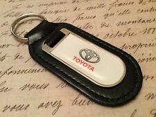 TOYOTA PRINTED BLACK LEATHER KEY RING FOB RAV4 C-HR LANDCRUISER SUPRA CELICA GT