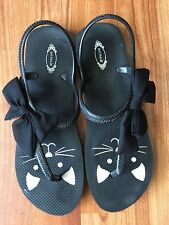 EUC Women's Joyfolie Cat Bow Sandals Flip Flops Size 9/10 Irresistibly Adorable!