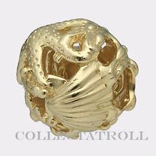 Authentic TrollBead 18kt Gold Ocean TrollBead  21314