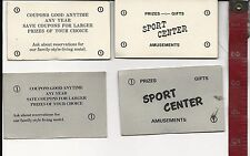 Vintage Lot Geneva-on-the-Lake Sports Center coupons prizes gifts FREE SHIPPING