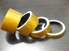 Bike Bicycle Stem Carbon Fiber Spacer Gold Yellow 28.6mm 20 15 10 5mm New