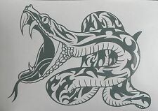 adesivo serpente auto moto scooter window vetro sticker decal vynil snake cobra
