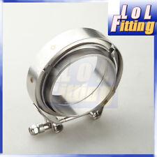"""3"""" V-BAND Downpipe Intercooler Turbo CLAMP & FLANGE KIT Mild Steel Flange"""