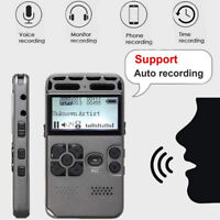 64G Rechargeable LCD Digital Audio Sound Voice Recorder dictaphone MP3 Play U2C4
