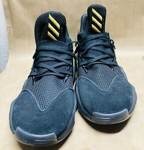 NEW Size 19 Adidas Harden Vol. 4 Solid Black With Gold Metallic 2019 No Box