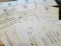 ROYAL MINT CERTIFICATES FOR PROOF SETS FROM 1970 - 1999