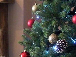 7ft Christmas Tree Premium Realistic Indoor 100% PE Tips Hinged Best Artificial