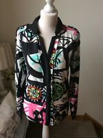 DESIGUAL by CHRISTIAN LACROIX Black White Brights Blouse Shirt Size Small (10)