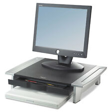Fellowes Standard Monitor Riser 19 7/8 x 14 1/16 x 6 1/2 Black/Silver 8031101