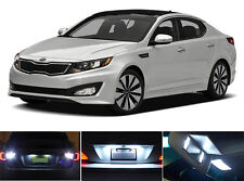 White LED Package - License Plate + Vanity + Reverse for Kia Optima (6 Pcs)