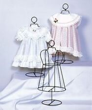 "INFANT SIZE WIRE DRESS FORM COLLECTIBLE SHELF DISPLAY HOME DECOR 18"" TALL"