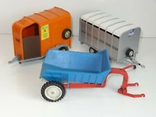 (W) Britains IFOR WILLIAMS CATTLE TRAILER, HORSEBOX AND TIPPER TRAILER