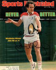 JOHN McENROE - Photo of Sports Illustrated Cover (July 11, 1983) - SIGNED