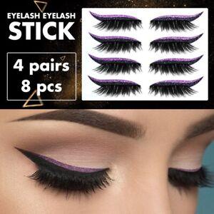 Reusable Fake False Eyeliner Eyelashes Shine Stickers Party Sexy Elegant Make Up