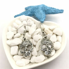 Steampunk Skull Earrings Tibet silver Charms Earrings Charm Earrings for Her
