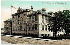 Union Hill NJ ~ Public School No. 3 ~ Hudson County Postcard ~ Union City