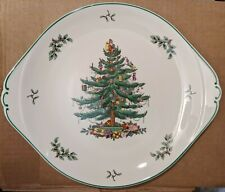 "Spode CHRISTMAS TREE 13"" Holiday Round Cake/Dessert Serving Plate New in box"