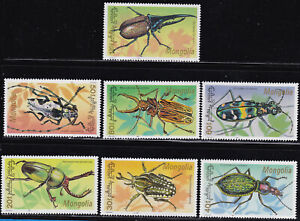 Mongolia 1991 Insects Mi.2277-83 Complete set MNH VF- US-SELLER