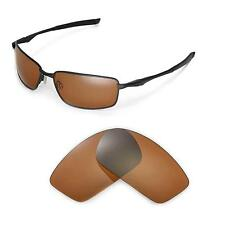 New Walleva Polarized Brown Replacement Lenses For Oakley Splinter Sunglasses