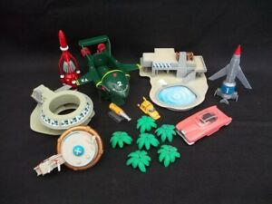 THUNDERBIRDS 1.2.3.5  SPACECRAFTS AND PARTS FOR TRACY ISLAND PLAYSET
