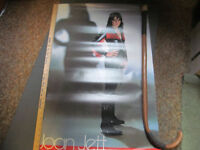 Joan Jett original promo poster first album Boardwalk Records bad reputation