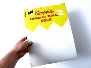 Vintage Mid Century Campbell's Cream of Tomato Soup Shop Sign & Oil Painting