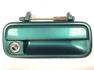 90-93 Accord 2/4Dr Right Front Door Exterior Outside Pull Handle Green OEM