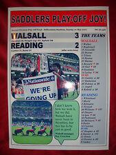 Walsall 3 Reading 2 - 2001 play-off final - souvenir print