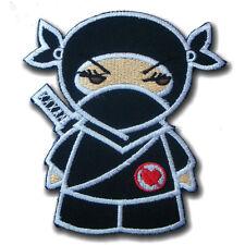 Cute Girl Ninja Kunoichi Heartless Kids Japan applique Embroidered Patch Iron on