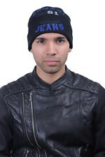 Armani Jeans Men's Wool Black Beanie Hat Size M