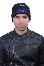 Armani Jeans Men's Wool Black Beanie Hat Size M