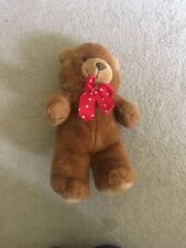Teddy Bear Soft Toy With Red Bow