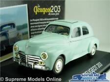 PEUGEOT 203 MODEL CAR 1:43 SCALE IXO ATLAS GREEN SALOON FRENCH K8