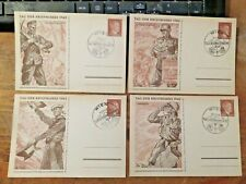 More details for 1942 german reich four vintage postcard covers