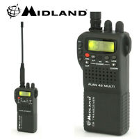 Midland Alan 42 AM FM Multi Band Mobile Handheld CB Transceiver Radio & Cover