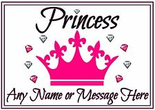 Personalised A3 Cat Dog Pet Feeding Food Water Dinner Mat Pink Princess