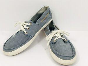 Tretorn Swedish Massage Teknology Mens 9.5 Blue Fabric Casual Boat Shoes