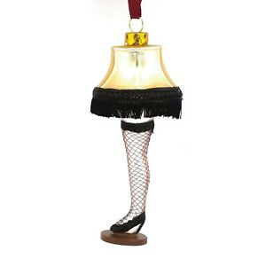Christmas Story Lamp Leg Blown Glass Ornament Hallmark Target Xmas Holiday