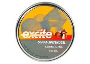 PY-P-1095 H&N Excite Coppa-Spitzkugel, .177 Cal, 7.56 Grains, Pointed, 500ct