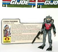 Vintage 1985 GI Joe / Cobra EELS (V1) Cobra Frogman EXCELLENT Condition w/EXTRAS