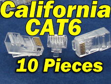 Lot 10 X Pcs CAT6 RJ45 Network LAN Cable Modular Plug 8P8C Connector End CAT 6