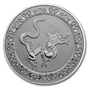Bullion coin 2 Dollars Niue 2020 1 oz argent BU Ag 999 ‰ – Serpent jaune