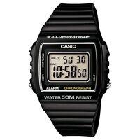 Casio Sports Unisex Classic Digital Watch With Alarm And Date, Black, W-215H-1AV