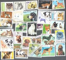 Chats & Chiens 300 TOUS DIFFERENTS collection de timbres-Pets