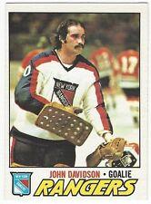 1977-78 OPC HOCKEY #28 JOHN DAVIDSON - EXCELLENT+