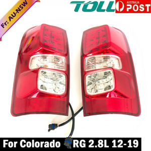 Pair LED Tail Rear Lamp Light For Holden Colorado RG 2.8L 2012 2013 2014-2019 AU