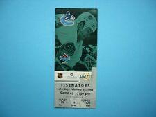 1997/98 VANCOUVER CANUCKS VS OTTAWA SENATORS HOCKEY TICKET STUB MARTIN GELINAS